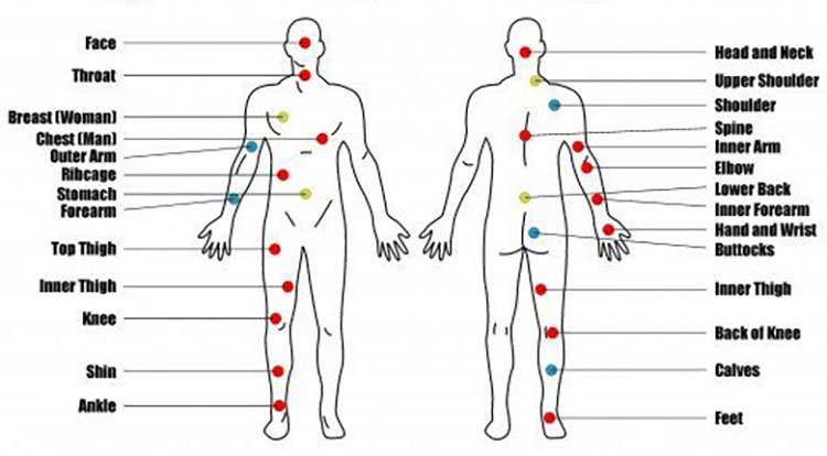 Tattoo Body Placement Chart